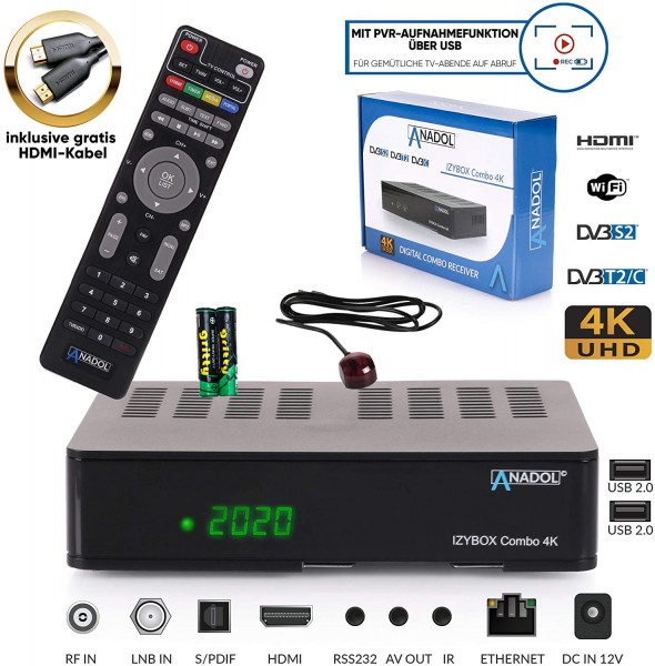 Anadol IZYBOX Combo HD FULL 4K Sat Receiver