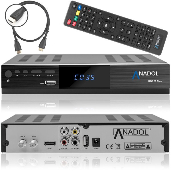 Anadol ADX 222 PLUS HD FULL 1080p Sat Receiver