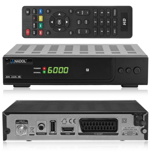 Anadol ADX 222s HD FULL 1080p Sat Receiver
