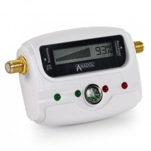 Anadol SF33 WHITE LCD digitaler Satfinder - Satelliten Messgerät Justierung von Antennenschüsseln &