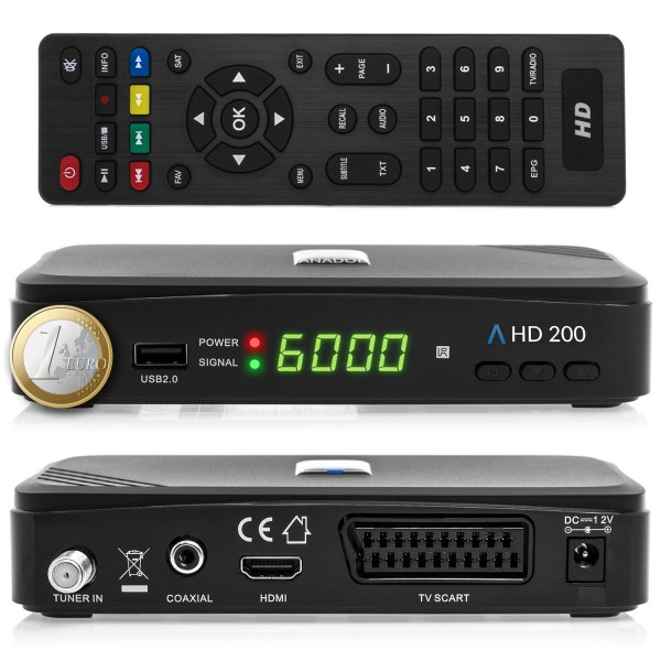 Anadol HD 200 FULL 1080p Sat Receiver inkl. Anadol WLAN Stick