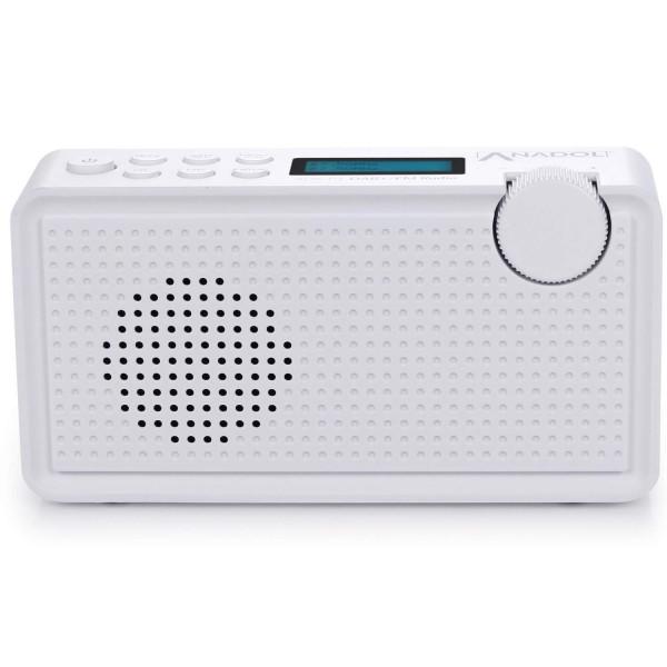Anadol ADX-P1 DAB+ / FM Radio weiss mit 20 Senderspeicherplätzen