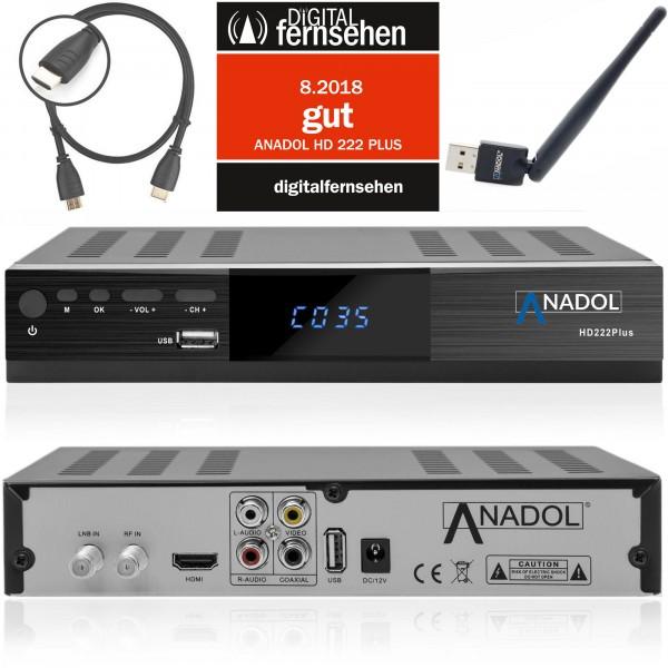 Anadol ADX 222 PLUS inkl. Wifi-Stick HD FULL 1080p Sat Receiver