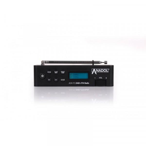Anadol ADX-P1 DAB+ / FM Radio schwarz mit 20 Senderspeicherplätzen